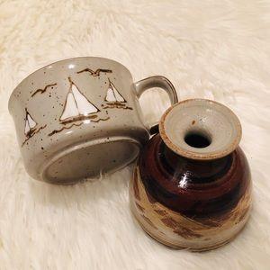 Ceramic Vase & Cup Bundle